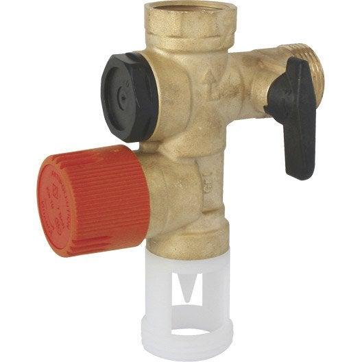 Groupe de s curit inox pour eau calcaire et agressive equation leroy merlin - Arrivee d eau chauffe eau ...