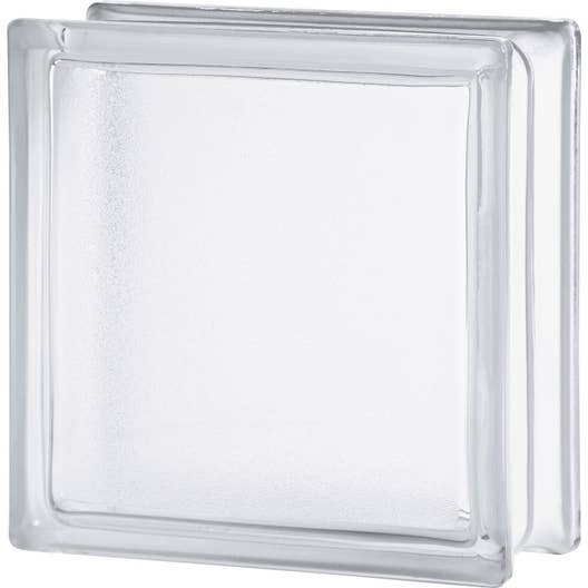 brique de verre transparent lisse double face leroy merlin. Black Bedroom Furniture Sets. Home Design Ideas