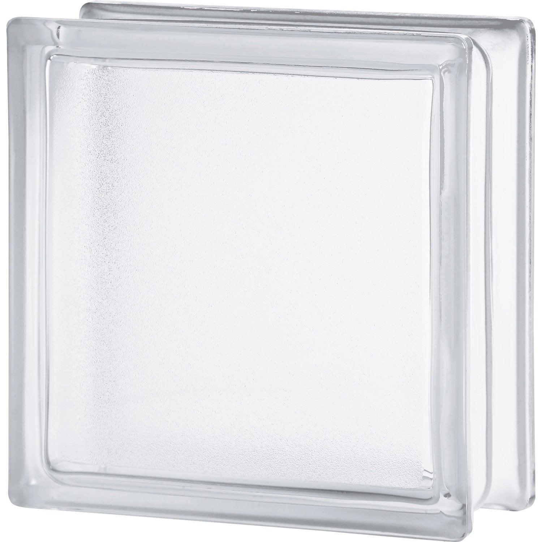 Brique De Verre Transparent Lisse Double Face Leroy Merlin # Etagere Verre Et Brique