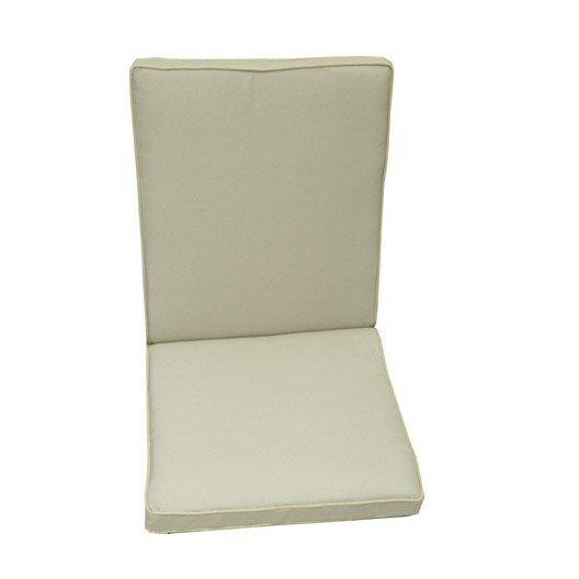 Coussin d 39 assise dossier de chaise ou fauteuil naterial - Chaise blanc d ivoire ...
