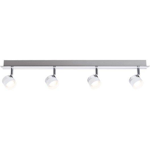 rampe 4 spots led 4 x led int gr e blanc stage paulmann. Black Bedroom Furniture Sets. Home Design Ideas