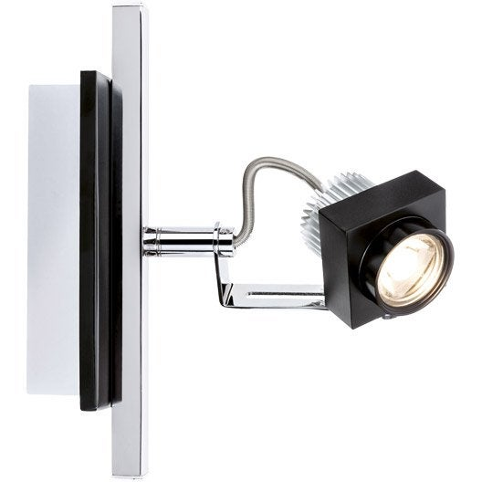 spot pat re led 1 x led int gr e noir phase paulmann leroy merlin. Black Bedroom Furniture Sets. Home Design Ideas