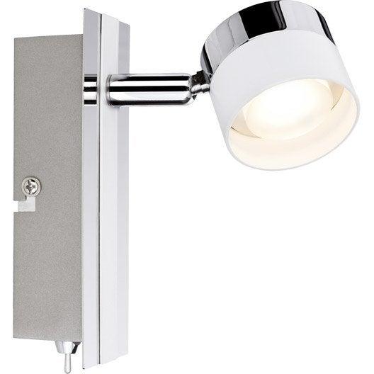 spot pat re led 1 x led int gr e blanc stage paulmann leroy merlin. Black Bedroom Furniture Sets. Home Design Ideas