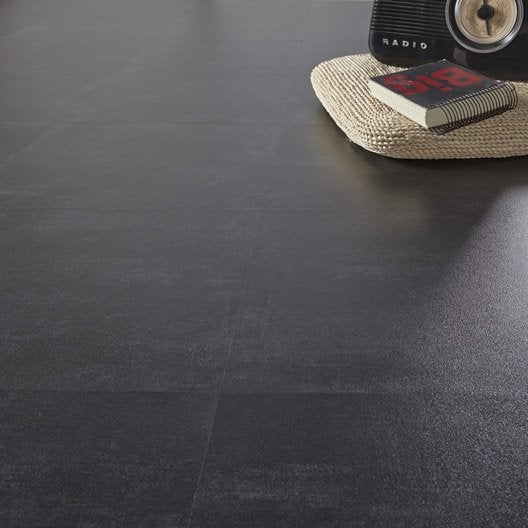 Dalle PVC adhésive GERFLOR Design union dark, 40.6 x 40.6 cm