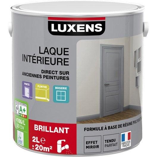 laque ms bril luxens 2l blan bla 0 | leroy merlin - Peindre Sur De La Peinture Brillante