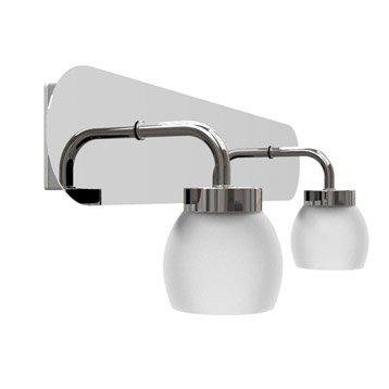 Rampe 2 spots Elia, LED 2 x 3.8 W, LED intégrée blanc chaud