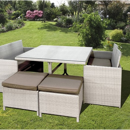 Salon de jardin bilbao dcb garden 1 table 2 banquette - Dcb garden salon de jardin ...