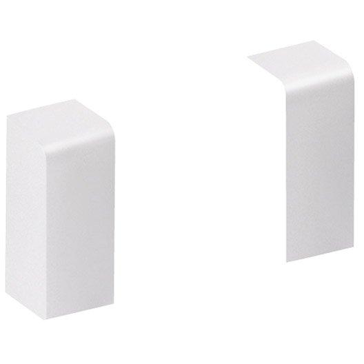 Lot de 2 embouts blanc pour plinthe x p 2 cm - Plinthe pvc blanc ...