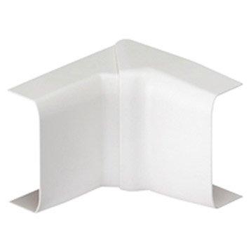 Lot de 4 angles intérieurs blanc pour moulure, H. 2.3 x P.1.1 cm