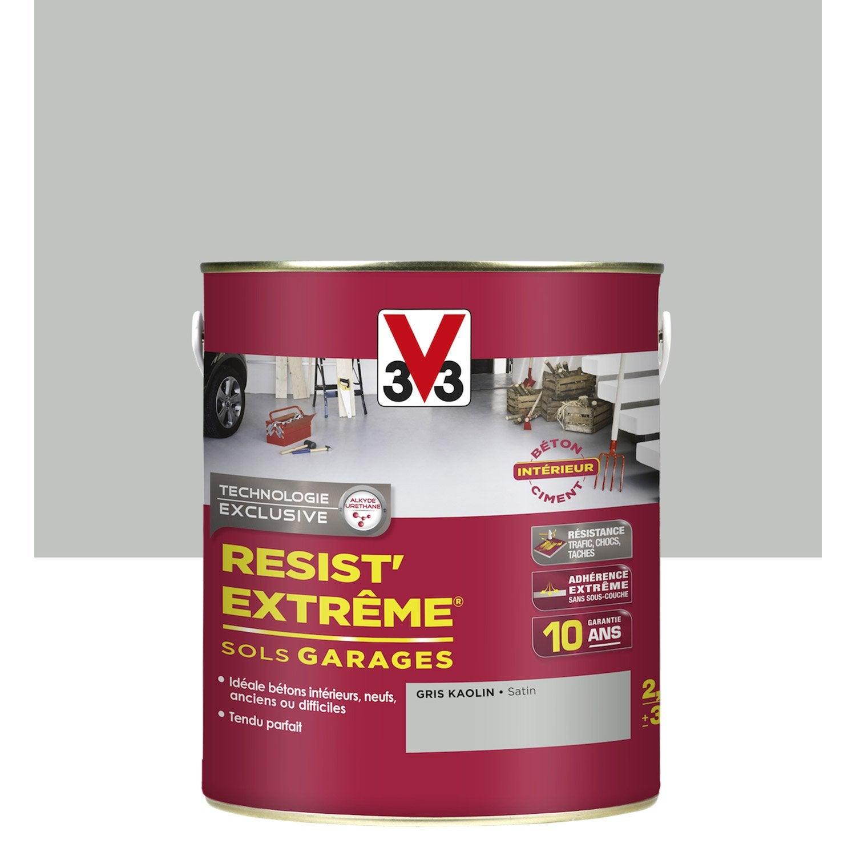 Peinture sol ext rieur r sist 39 extr me v33 gris kaolin 2 for Peinture sol exterieur