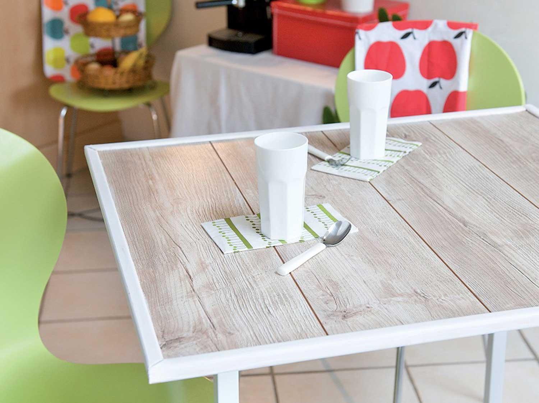 Diy Fabriquer Une Table Partir De Lames De Parquet Leroy Merlin # Je Fabrique Ma Table De Jardin