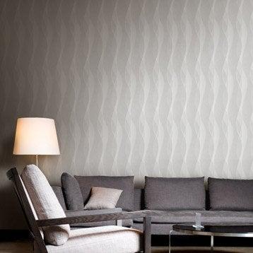 Papier peint intissé Ripple gris