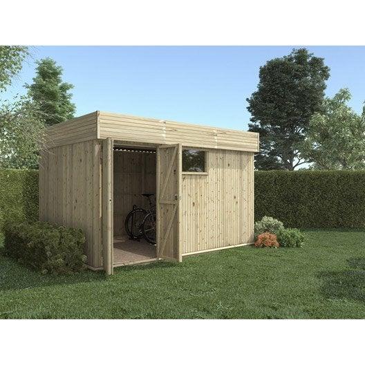 abri de jardin bois hutta m mm leroy merlin. Black Bedroom Furniture Sets. Home Design Ideas