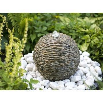 Fontaine de jardin en pierre naturelle marron Trente