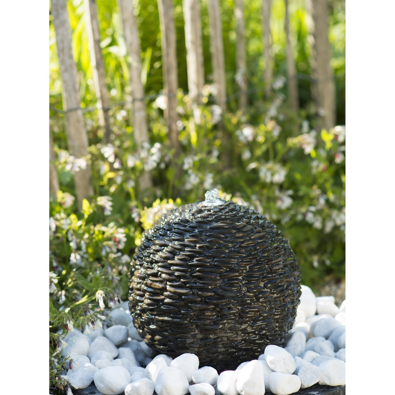 Fontaine en pierre naturelle de jardin marron | Leroy Merlin