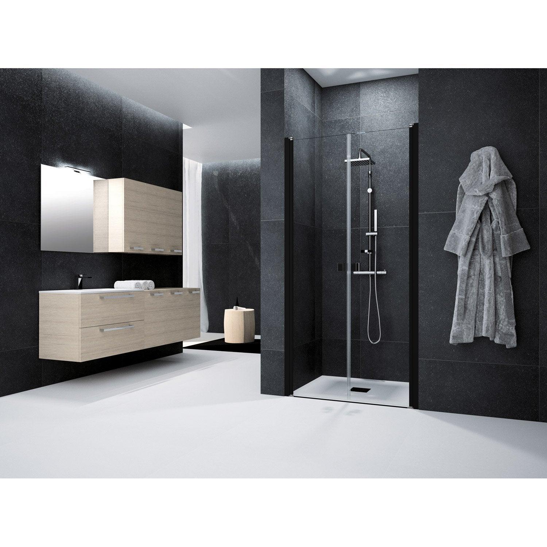 Porte de douche battante 90 cm transparent neo leroy - Porte battante de douche ...