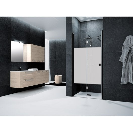 porte de douche pivot pliante 80 cm s rigraphi neo leroy merlin. Black Bedroom Furniture Sets. Home Design Ideas