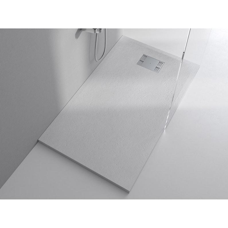 Receveur De Douche Rectangulaire L 160 X L 80 Cm Résine Blanc Slate