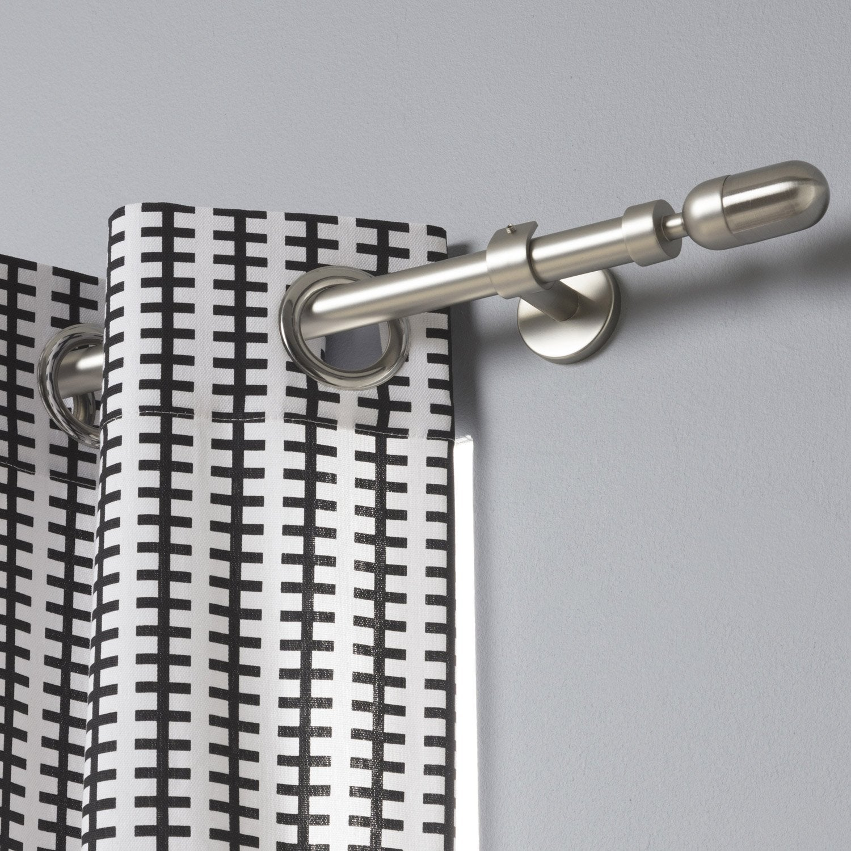 lot de 2 supports tringle rideau design 20 mm nickel mat inspire leroy merlin. Black Bedroom Furniture Sets. Home Design Ideas