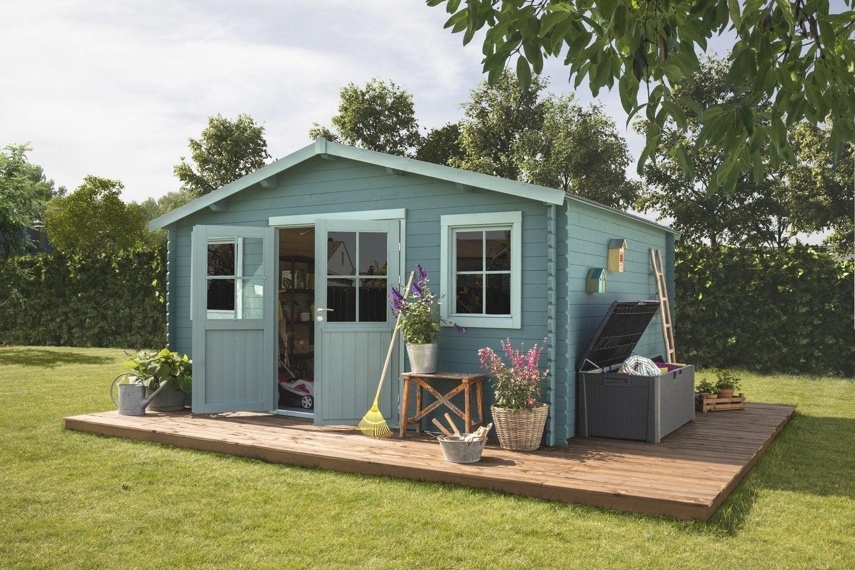 un abri de jardin v ritable pi ce en plus leroy merlin. Black Bedroom Furniture Sets. Home Design Ideas