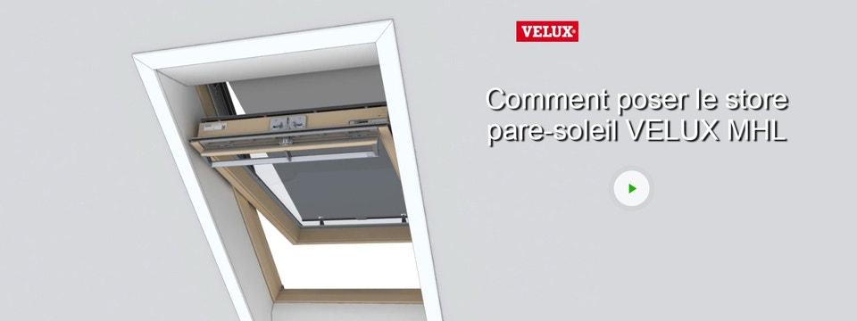 Store Fenêtre De Toit Pare Soleil Manuel Noir Velux Mhl Mk00