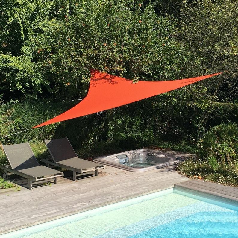Voile d\'ombrage triangulaire terracotta L.360 x l.360 cm