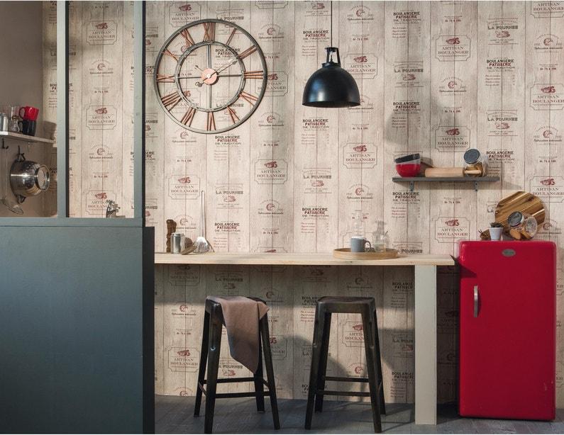 Papier Peint Boulangerie Beige Rouge Papier Cuisine Et Bain
