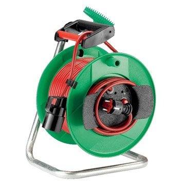 Enrouleur lectrique rallonge lectrique et enrouleur for Rallonge electrique de jardin