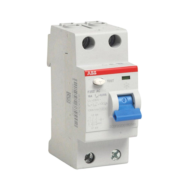 interrupteur diffrentiel abb 10 ma 16 a ac - Differentiel Pour Salle De Bain