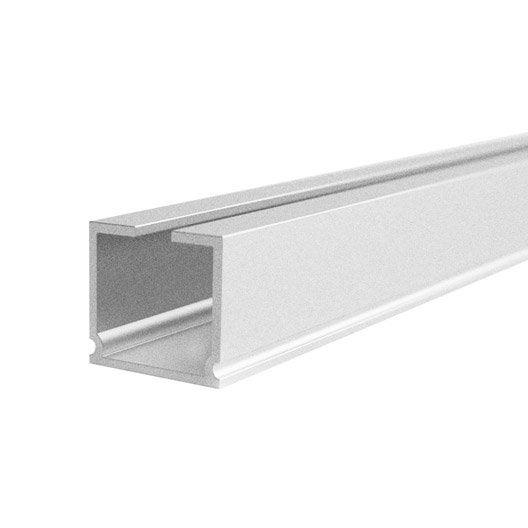 rail aluminium universel blanc laqu cm ouverture lat rale ou centrale leroy merlin. Black Bedroom Furniture Sets. Home Design Ideas