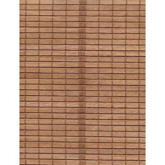 store enrouleur tamisant bois tiss naturel brun 80 90 x. Black Bedroom Furniture Sets. Home Design Ideas