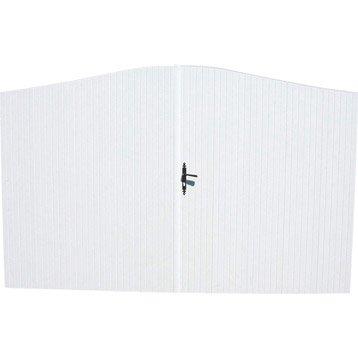 Portail battant pvc Quiberon blanc, l.350 cm x H.190 cm