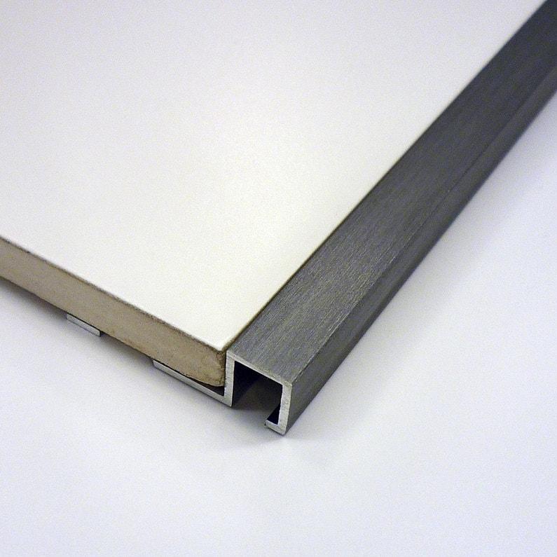 Listel Mur Aluminium Anodisé L25 M X Ep125 Mm