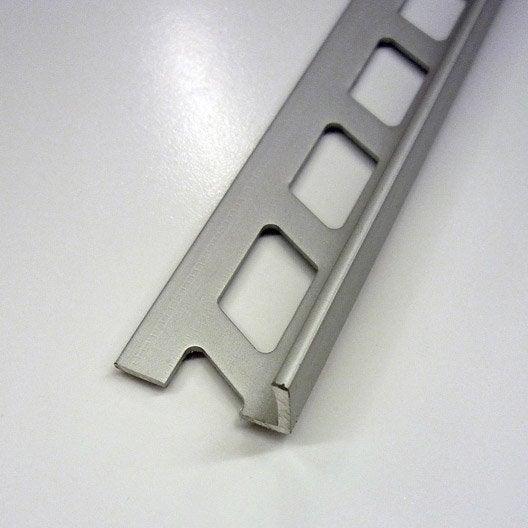 Equerre de finition carrelage mur, aluminium anodisé L.2.5 m x Ep.6 mm