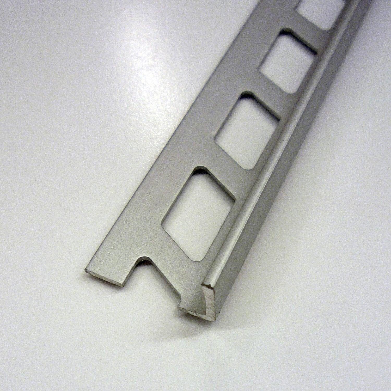 Equerre De Finition Carrelage Mur, Aluminium Anodisé L.2.5 M X Ep.12.5 Mm