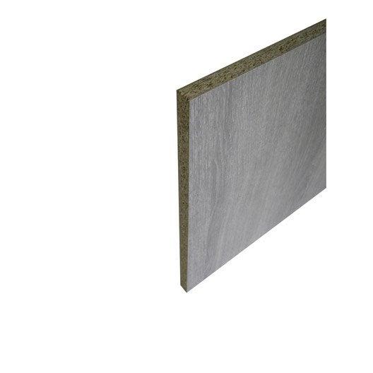 Panneau aero agglom r int rieur ch ne gris 250 x 123cm x p 18 mm leroy merlin - Panneau bois agglomere ...
