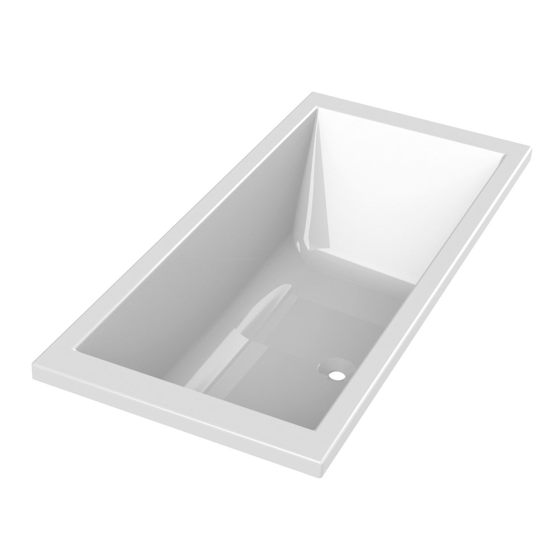 Baignoire Rectangulaire L 190x L 90 Cm Blanc Sensea Premium Design