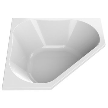 Baignoire d'angle L.140x l.140 cm blanc, SENSEA Premium design