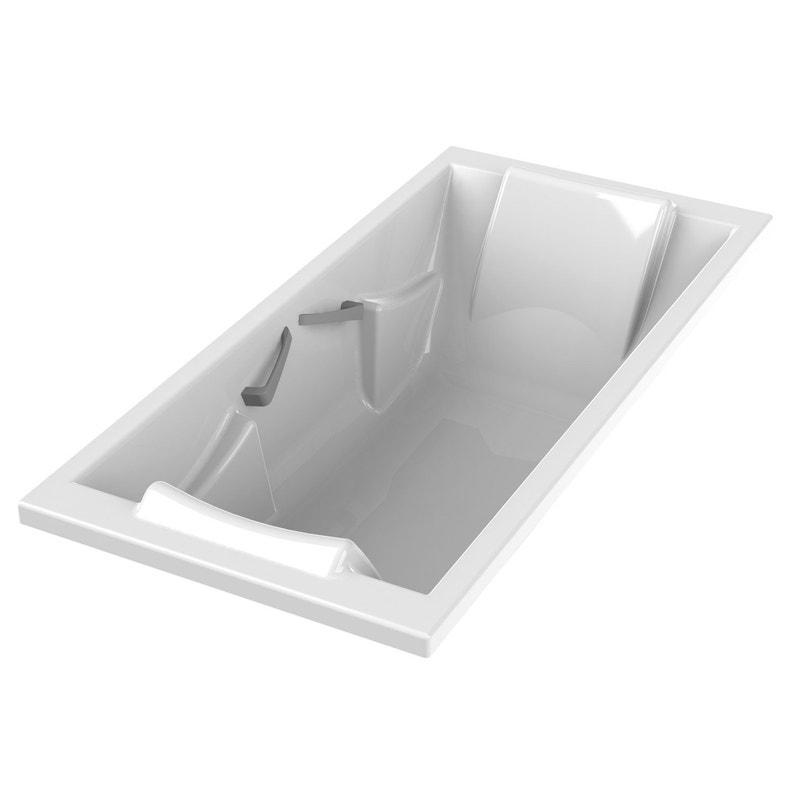 Baignoire Rectangulaire L190x L90 Cm Blanc Sensea Premium Confort