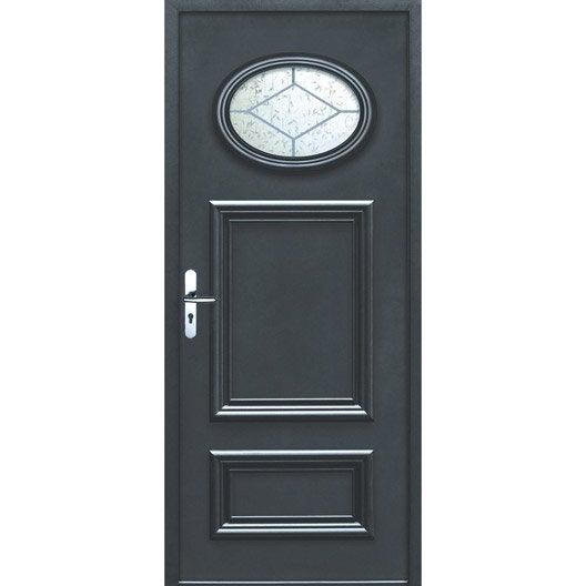 porte d 39 entr e sur mesure en aluminium lyon excellence leroy merlin. Black Bedroom Furniture Sets. Home Design Ideas