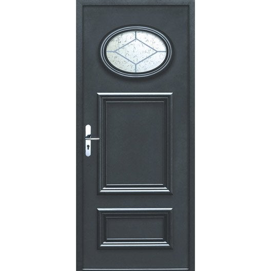 Porte d 39 entr e sur mesure en aluminium lyon excellence - Porte d entree point p ...
