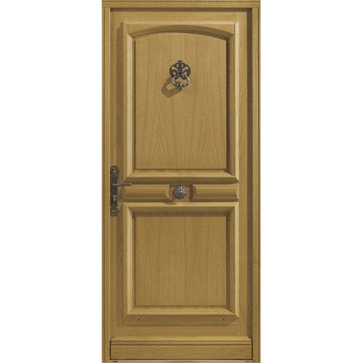 Porte d 39 entr e sur mesure en bois borgo excellence leroy for Tringle porte d entree