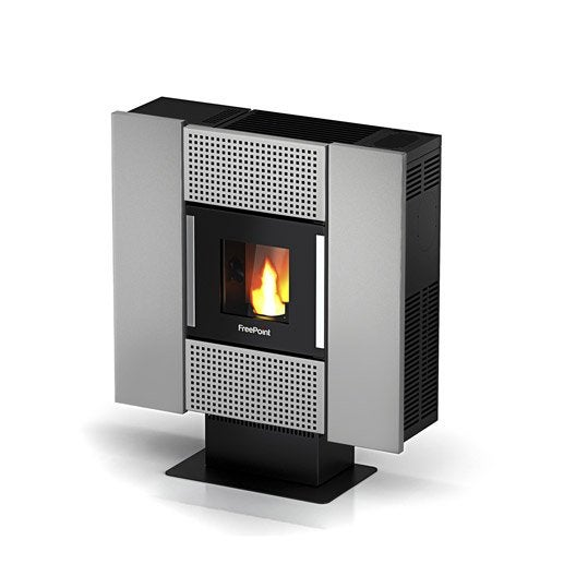 po le granul s freepoint square silver 6 5 kw leroy merlin. Black Bedroom Furniture Sets. Home Design Ideas