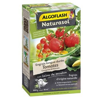 Engrais naturel tomates ALGOFLASH 800 g