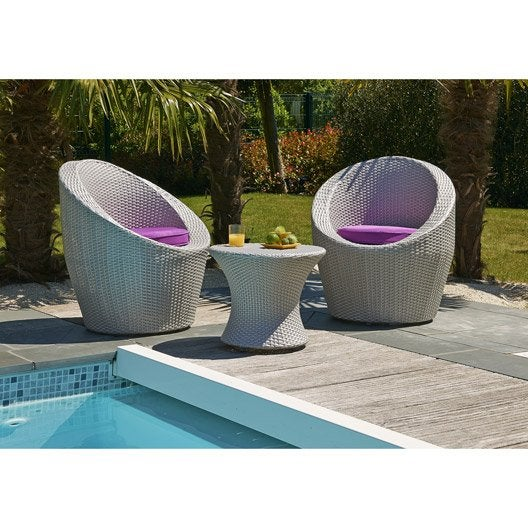 Salon jardin totem mediterran e r sine tress e gris 2 for Salon de jardin original