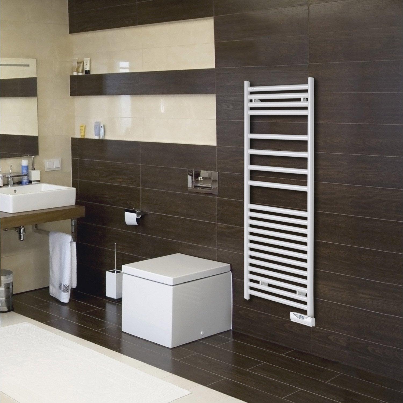 sèche-serviettes électrique à inertie fluide acova angora 750 w ... - Chauffe Serviette Salle De Bain