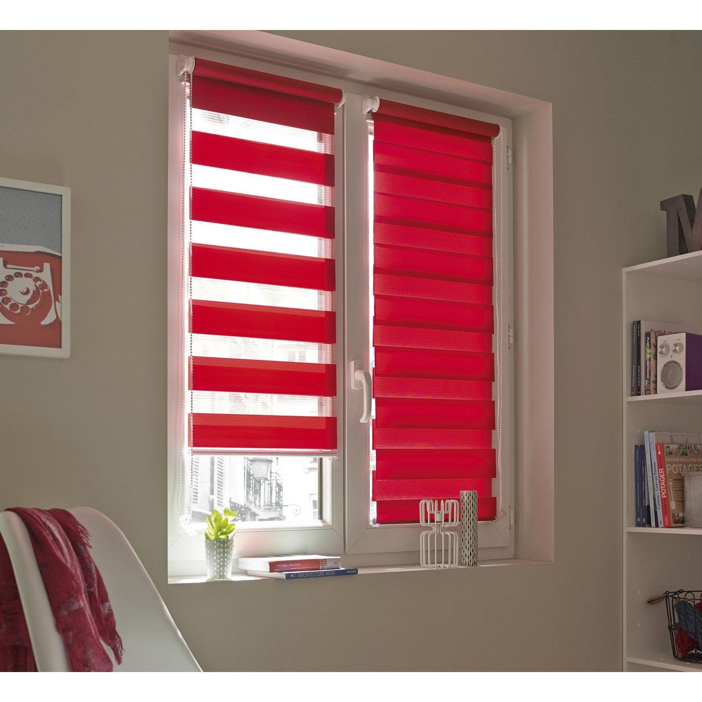 Store enrouleur jour / nuit INSPIRE, rouge rouge n°3, 71 x 190 cm ...