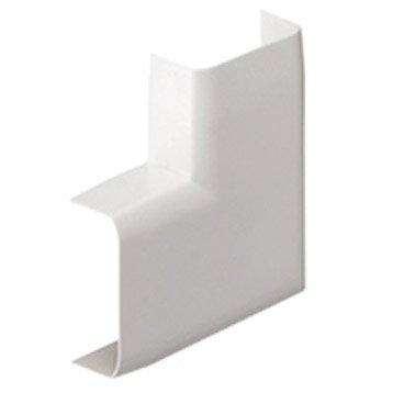 Lot de 2 angles plats blanc pour moulure, H. 3.4 x P.1.5 cm