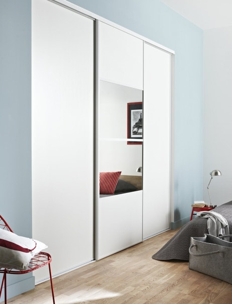 des portes de placard coulissantes et pratiques leroy merlin. Black Bedroom Furniture Sets. Home Design Ideas
