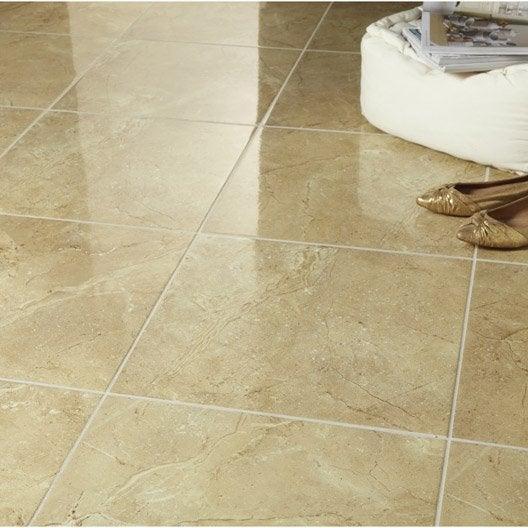 Carrelage sol et mur ocre effet marbre carpatia x l for Carrelage effet marbre